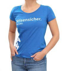 "T-SHIRT ""KRISENSICHER"" BLAU (DAMEN)"