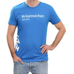 "T-SHIRT ""KRISENSICHER"" BLAU (HERREN)"