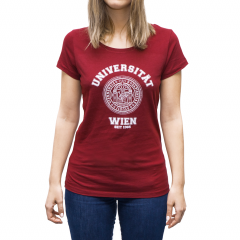 T-SHIRT UNIVERSITÄT ROT (DAMEN)